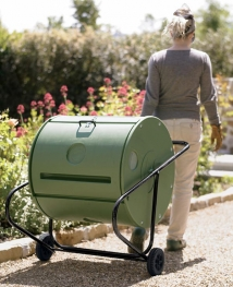Compost tumbler by The Mantis Company