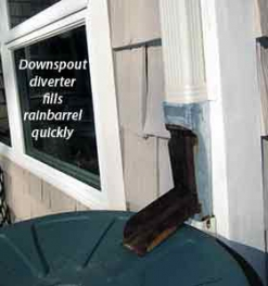 rain barrel downspout diverter
