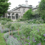 Formal gardens at Harkness State Park
