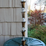 rain chain over rain barrel