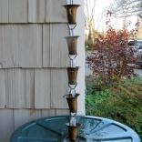 rain chain over rain barrel