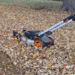 mow leaves and leave them on the lawn